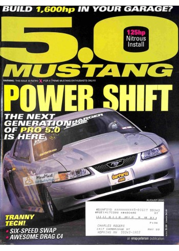 Cover Print of 5.0 Mustang, August 2000