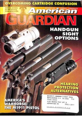 Cover Print of American Guardian, October 1999