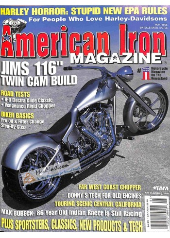 Cover Print of American Iron, May 2005