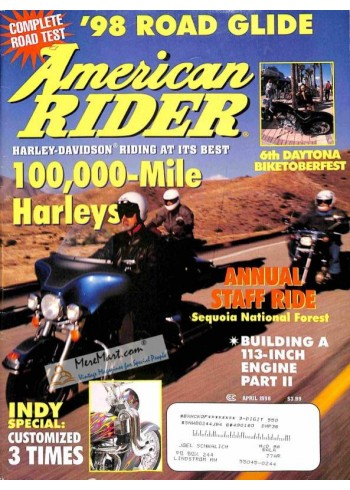 Cover Print of American Rider, April 1998