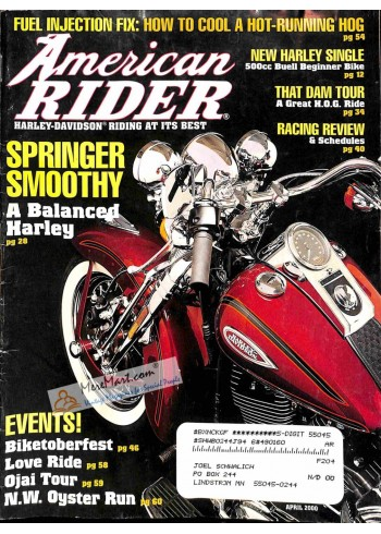 Cover Print of American Rider, April 2000