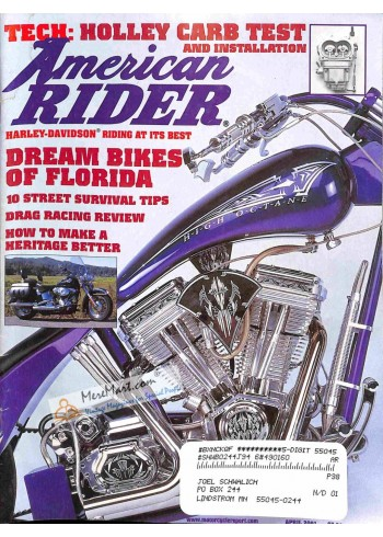 Cover Print of American Rider, April 2001