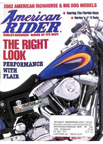 Cover Print of American Rider, April 2002