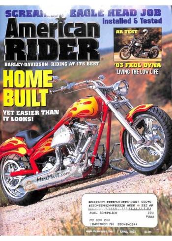 Cover Print of American Rider, April 2003