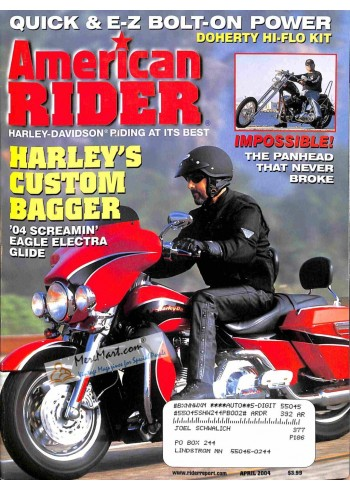 Cover Print of American Rider, April 2004