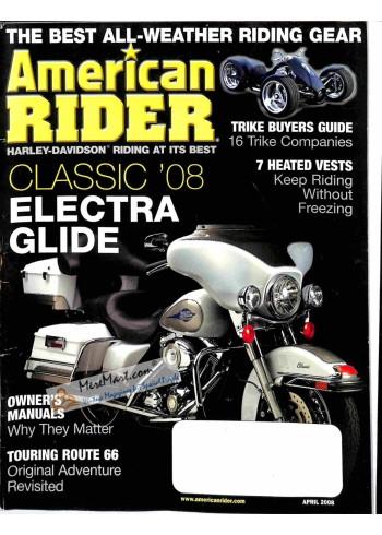Cover Print of American Rider, April 2008