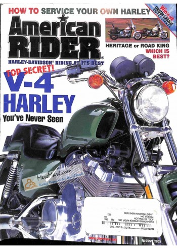 Cover Print of American Rider, August 2002