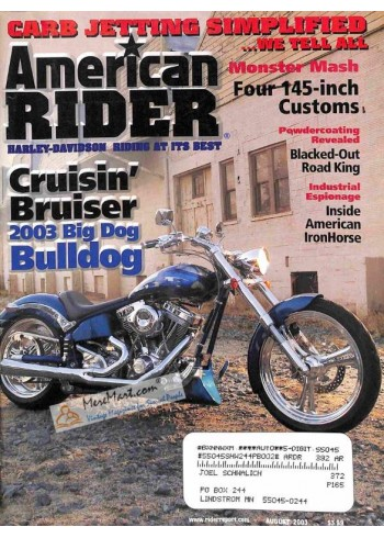 Cover Print of American Rider, August 2003