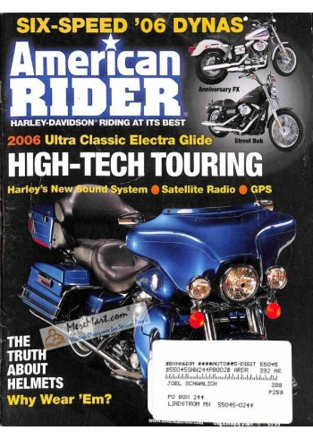 Cover Print of American Rider, December 2005