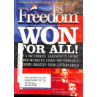 Cover Print of Americas 1st Freedom, December 2005