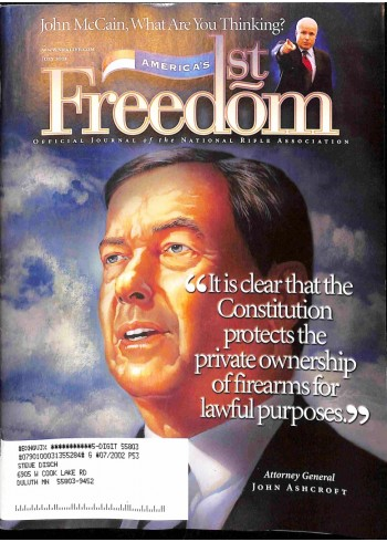 Cover Print of Americas 1st Freedom, July 2001