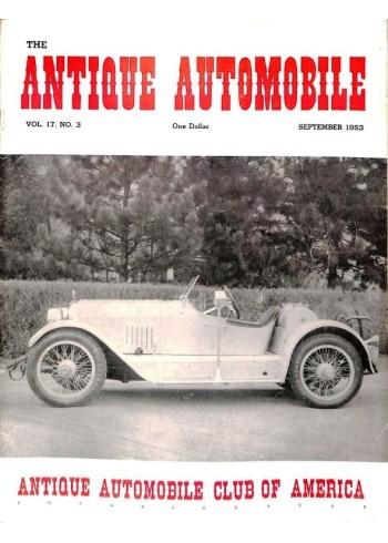Cover Print of Antique Automobile, September 1953