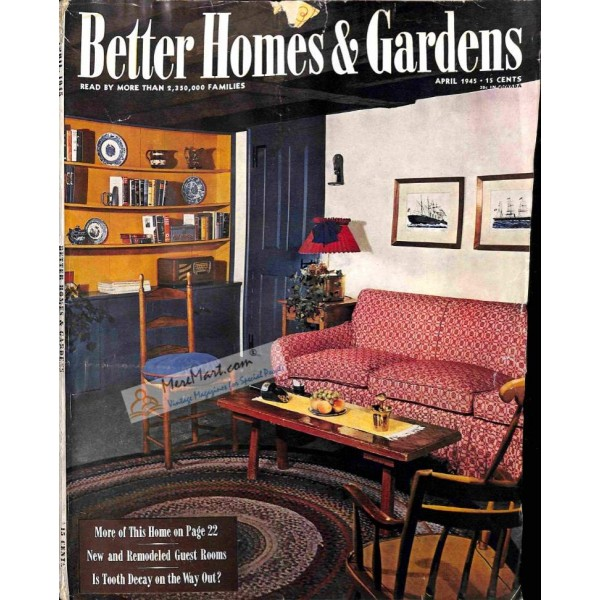 Cover Print of Better Homes and Gardens, April 1945 on forbes interior design, psychedelic interior design, more interior design, new york magazine interior design, health interior design, full house interior design, american cottage interior design, good housekeeping interior design, clever interior design, classic home interior design, seventeen interior design, fine home interior design, ashley furniture interior design, nike interior design, elegant home interior design, real simple interior design, 1976 interior design, lucky interior design, garden style interior design, american home interior design,