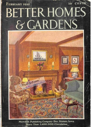 Cover Print of Better Homes and Gardens, February 1932