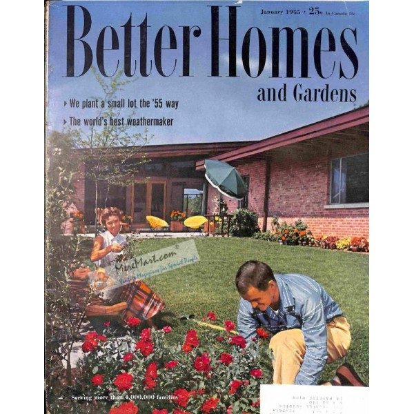 Cover Print Of Better Homes And Gardens January 1955