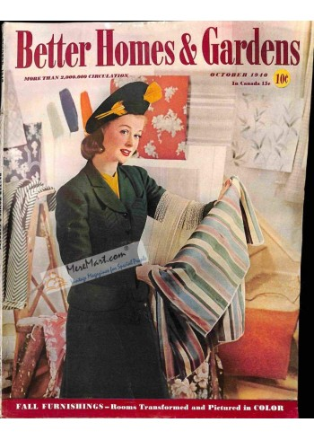 Cover Print of Better Homes and Gardens, October 1940