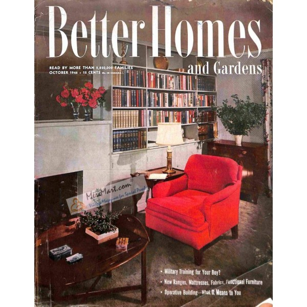 Cover Print Of Better Homes And Gardens October 1946