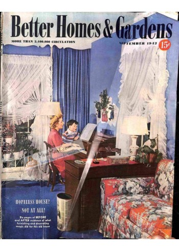 Cover Print of Better Homes and Gardens, September 1942