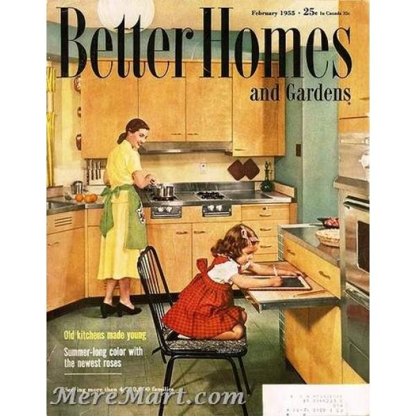 Bhg Magazine Covers: Better Homes And Gardens Magazine, February 1955