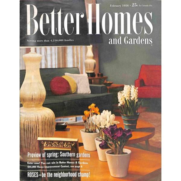 Bhg Magazine Covers: Better Homes And Gardens Magazine, February 1956