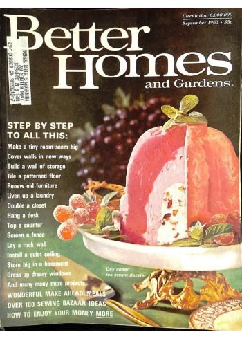 Cover Print of Better Homes and Gardens, September 1963