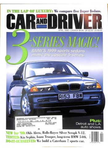 Cover Print of Car and Driver, April 1998