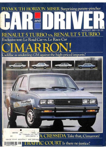 Car and Driver, August 1981