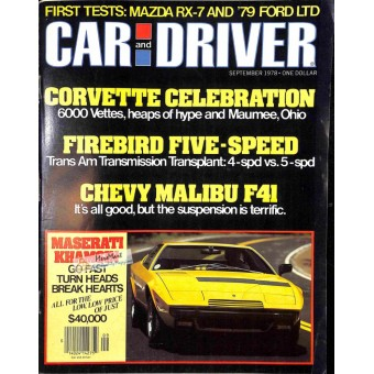 Car and Driver Magazine, September 1978