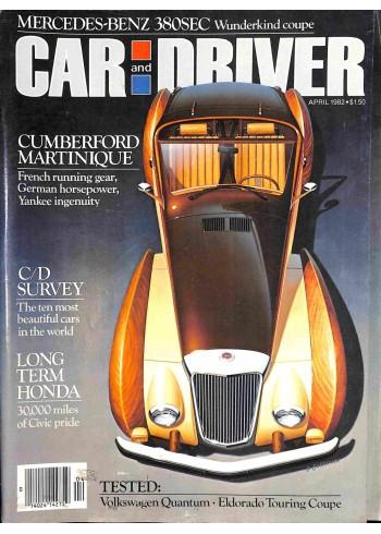 Car and Driver, April 1982