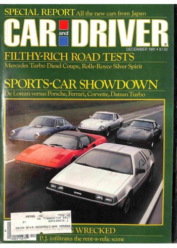 Car and Driver, December 1981