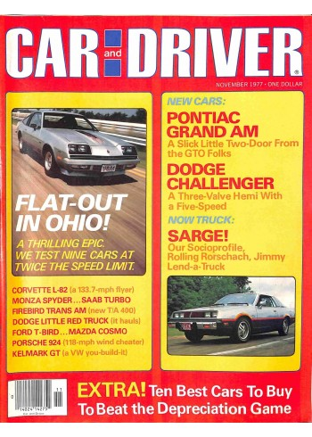 Car and Driver, November 1977