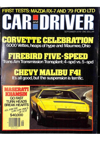 Car and Driver, September 1978