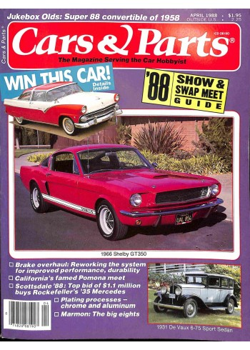 Cover Print of Cars and Parts, April 1988