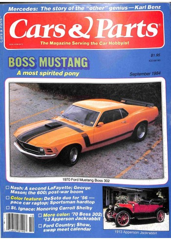 Cover Print of Cars and Parts, September 1984