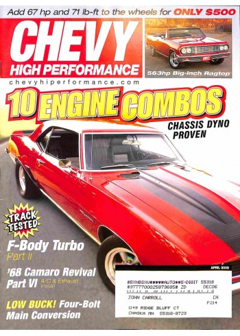 Chevy High Performance, April 2006
