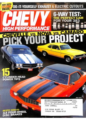 Cover Print of Chevy High Performance, July 2006