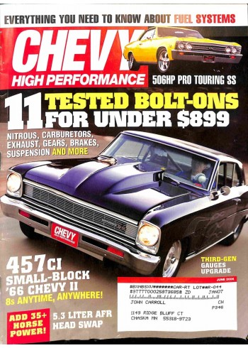 Chevy High Performance, June 2006