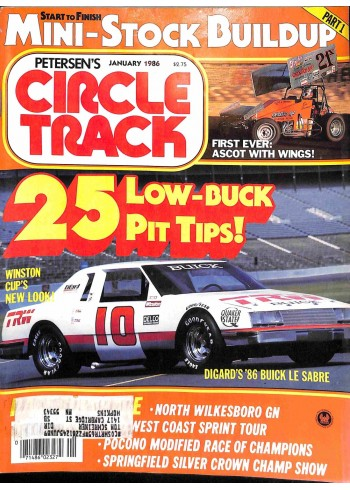 Cover Print of Circle Track, January 1986