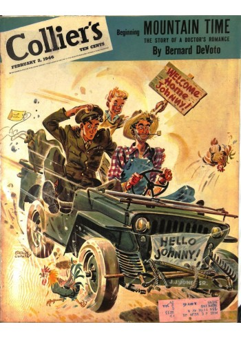 Cover Print of Colliers, February 2 1946