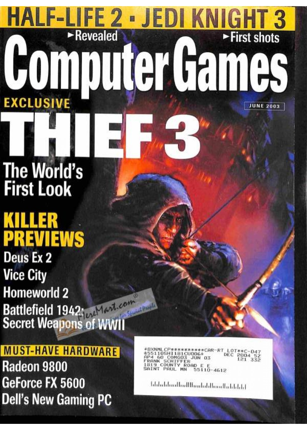Cover Print of Computer Games, June 2003