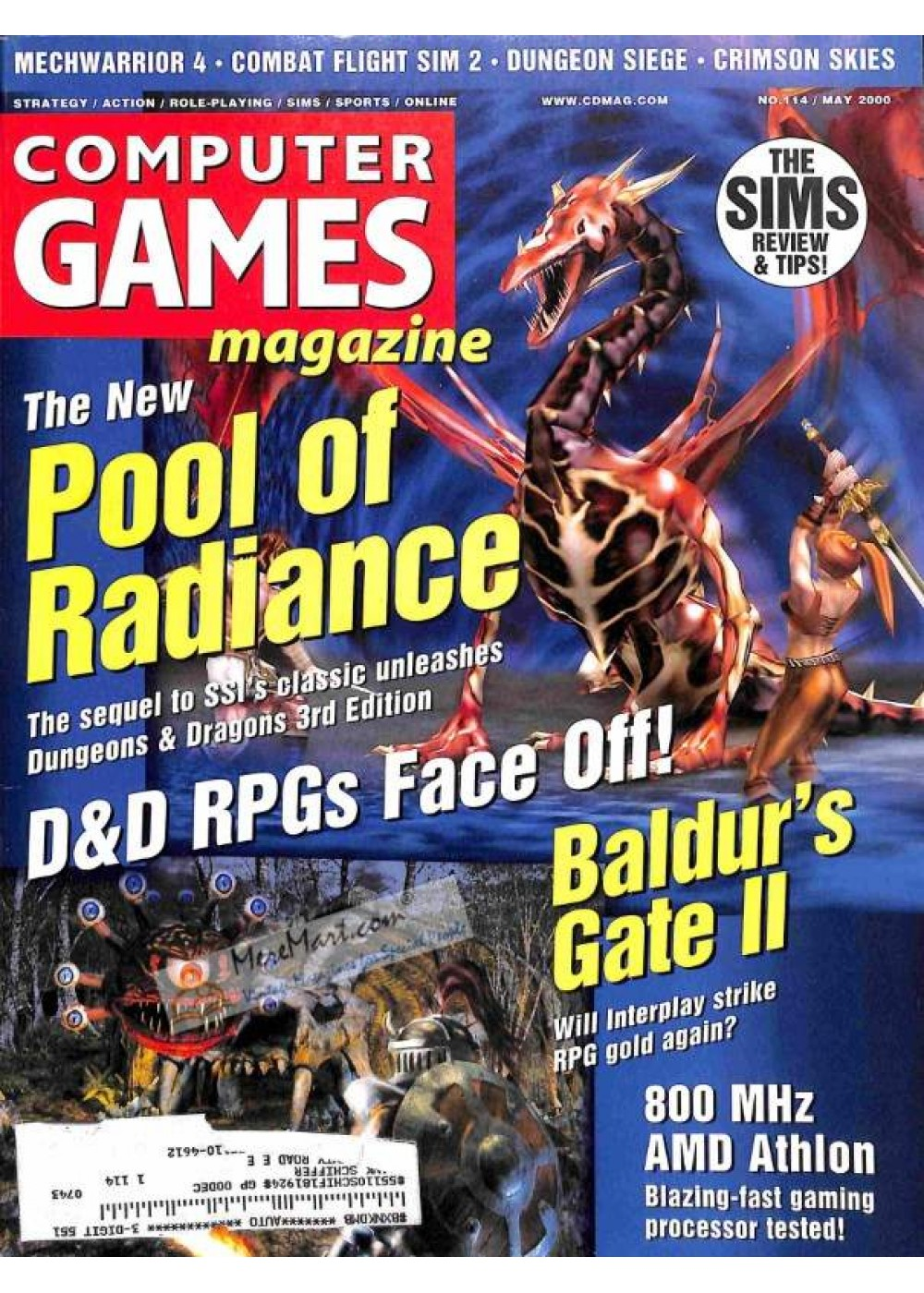 Cover Print of Computer Games, May 2000