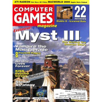Cover Print of Computer Games, October 2000