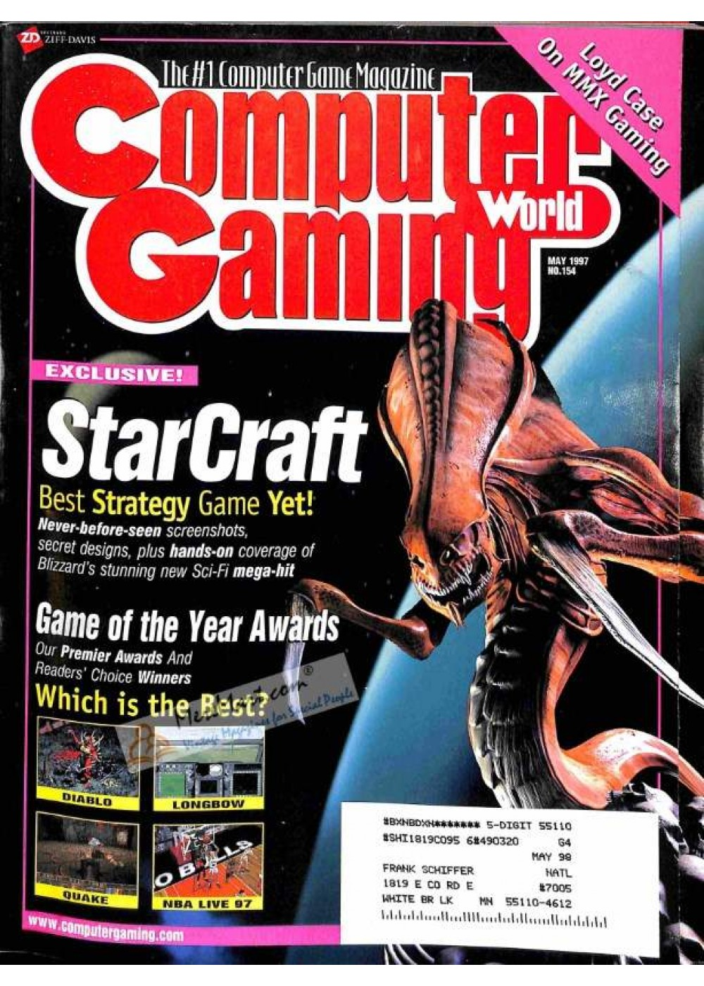 picture regarding Printable Video Game Covers titled Address Print of Pc Gaming Planet, May perhaps 1997