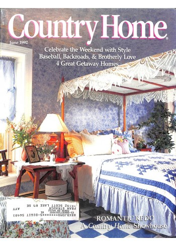 Cover Print of Country Home, June 1992