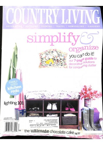 Cover Print of Country Living, January 2005