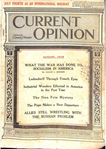Cover Print of Current Opinion, August 1918
