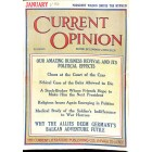 Cover Print of Current Opinion, January 1916
