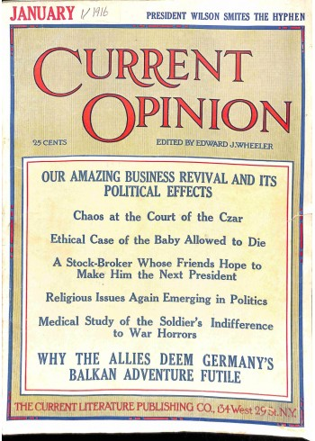 Current Opinion, January 1916