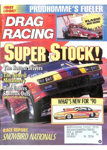 Cover Print of Drag Racing, March 1990
