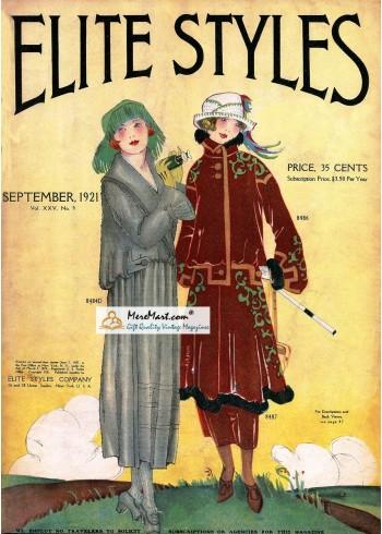 Elite Styles, September, 1921. Poster Print.